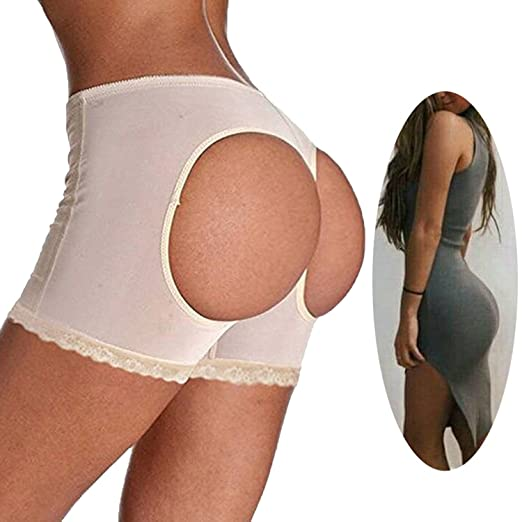 04b1fd329d7 FLORATA Hip Lifting Underpants Butt Lifter Booster Booty Panty Push Up  Buttock Shapewear at Amazon Women s Clothing store