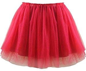 18790357512466 Mädchen Tutu Rock vier Layer Lace Cover Baumwolle Futter für Party  Zeremonie Casual Party