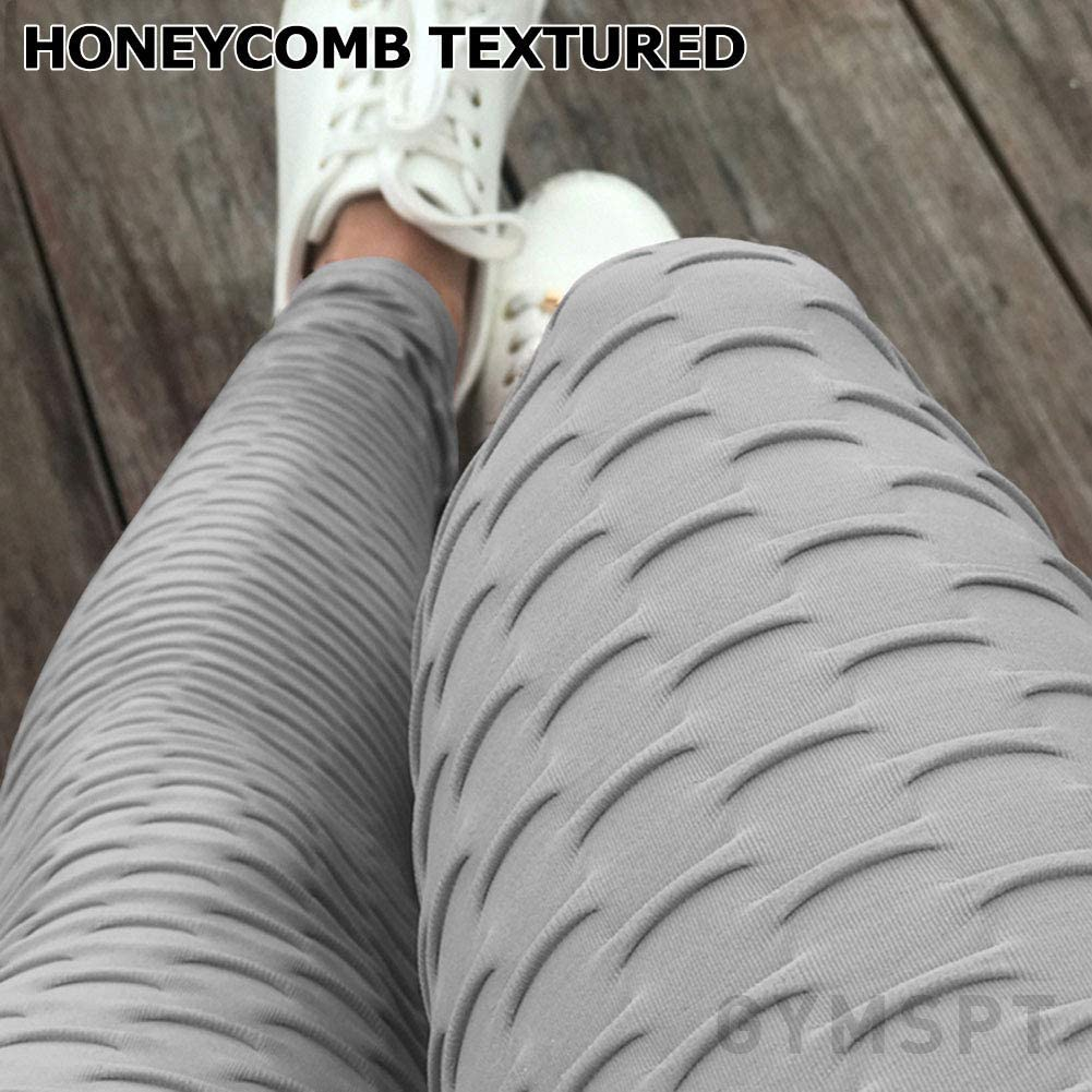 POWERASIA High Waisted Yoga Pants for Women Tummy Control Ruched Butt Lifting Workout Scrunch Leggings Booty Tights
