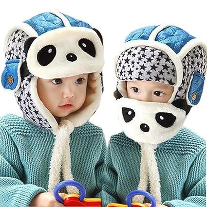 a3ad3658be7 Amazon.com  Ikevan Baby Kids Boy Girl Knitting Cartoon Panda Masks ...