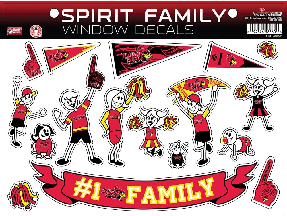 NCAA Illinois State Redbirds Family Decals Sheet