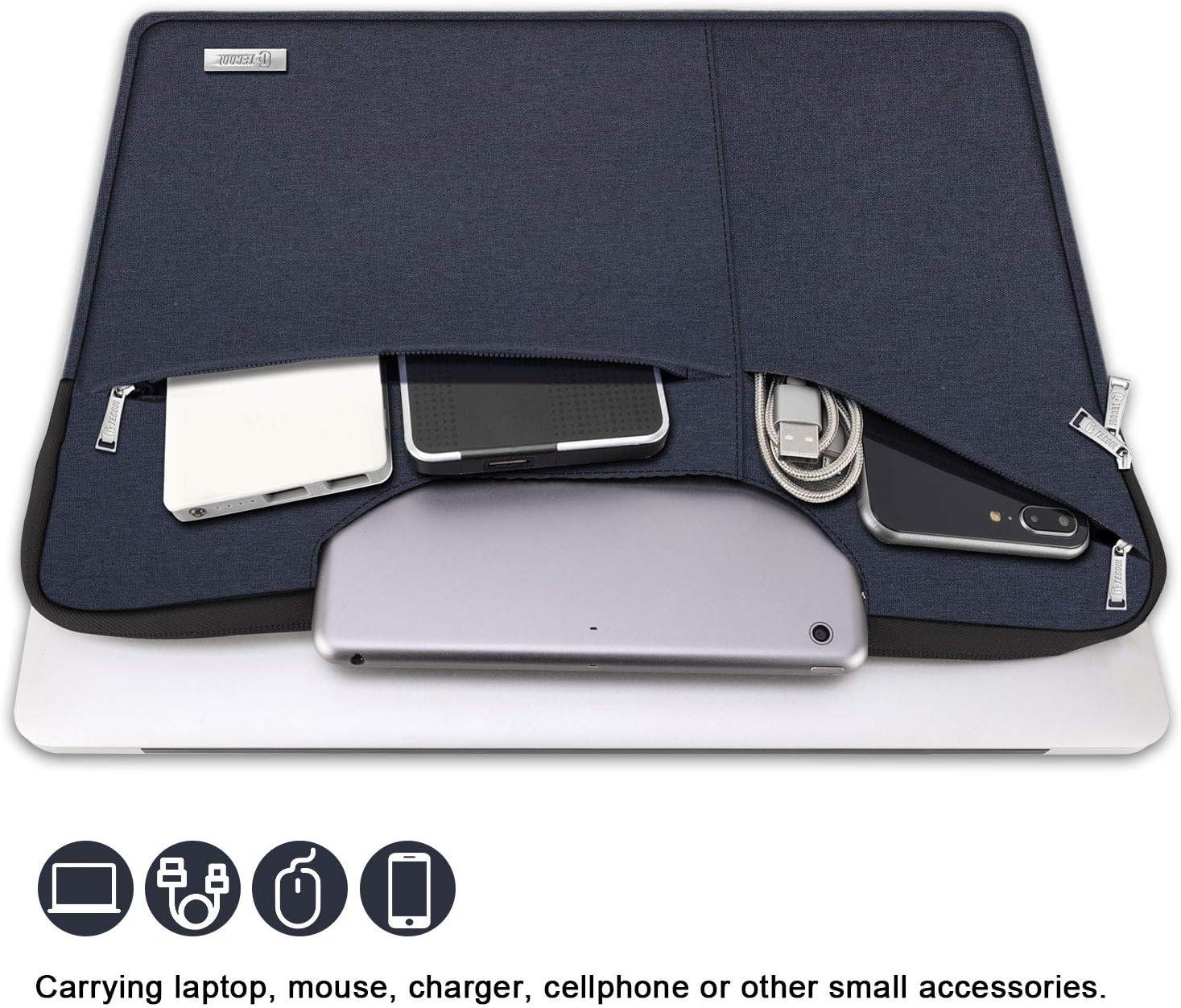 Bolso Protectora Acolchada Funda Blanda para 15,6 HP Lenovo Acer ASUS DELL Huawei Samsung PC Port/átiles Chromebook Nuevo Rosa TECOOL Funda Ordenador Port/átil de 15,6 Pulgadas