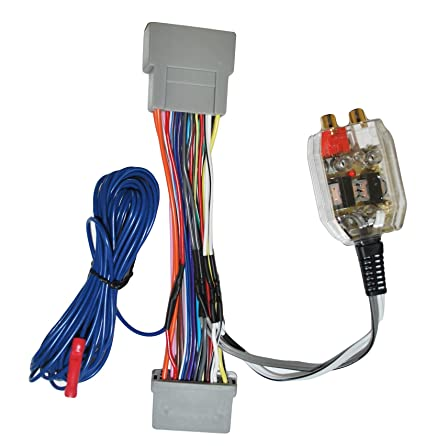 amazon com: factory radio add a amp amplifier sub interface wire harness  inline converter: car electronics