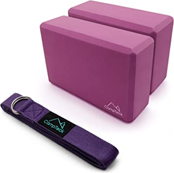 Amazon.com : CampTeck Yoga KIT - D-Ring Polyester Yoga Strap ...