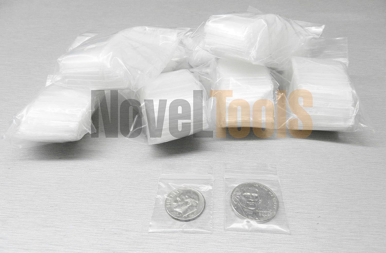 600 Assorted Sizes Clear 2 mil Plastic Ziplock Baggies 1x1 1.5x1.5 2x2 2x3 3x3 3x4