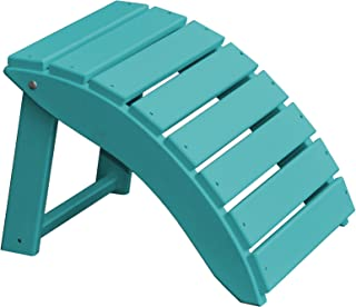 product image for Furniture Barn USA Poly Folding Round Ottoman Footrest - Aruba Blue
