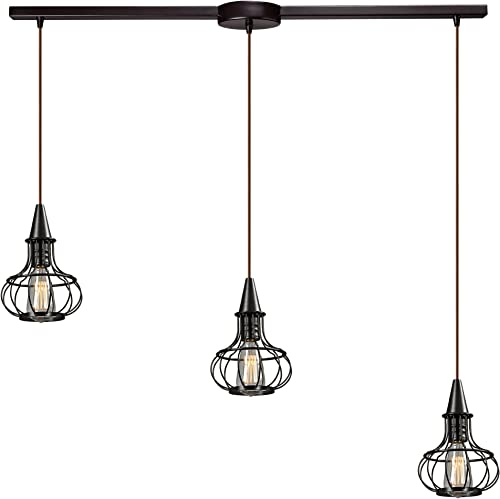 Elk Lighting 14191 3L Yardley Collection 3 Light Chandelier, 36 x 36 x 11 , Oil Rubbed Bronze