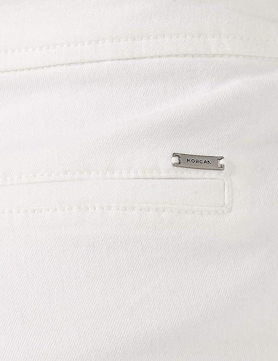 lot Taille Fabricant: T38 Morgan 201-PEET Pantalon Femme Blanc Off White W28