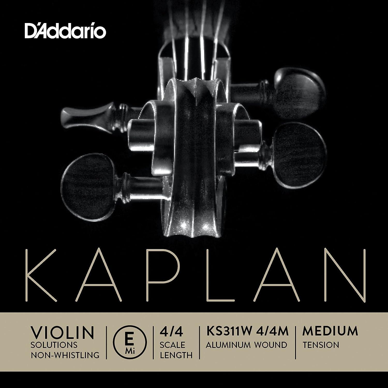 D'Addario Kaplan Non-Whistling Violin Aluminum Wound E String, 4/4 Scale D'Addario &Co. Inc KS311W 4/4M