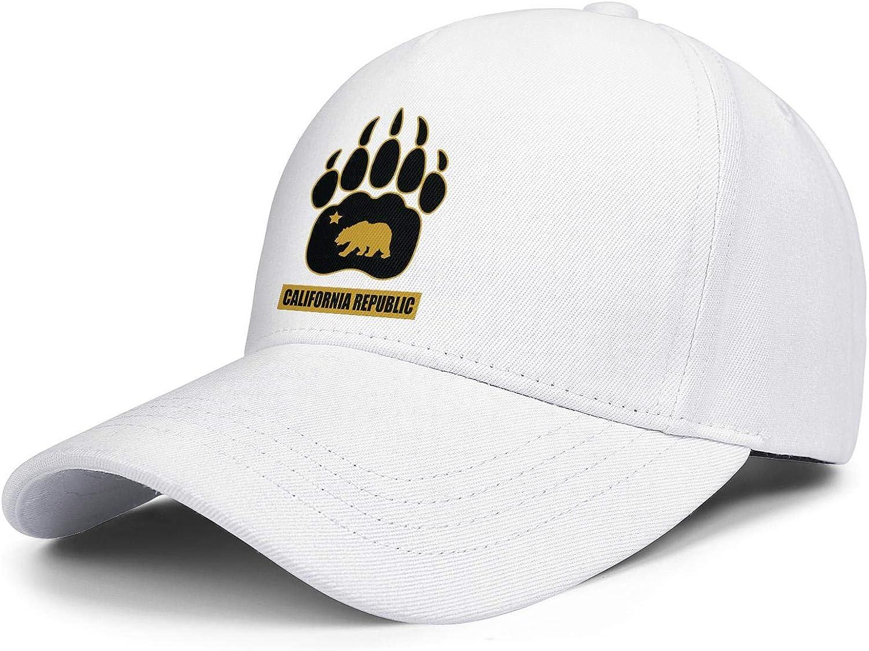 California Republic Bear Unisex Baseball Cap Summer Sport Baseball Caps Adjustable Trucker Caps Dad-Hat
