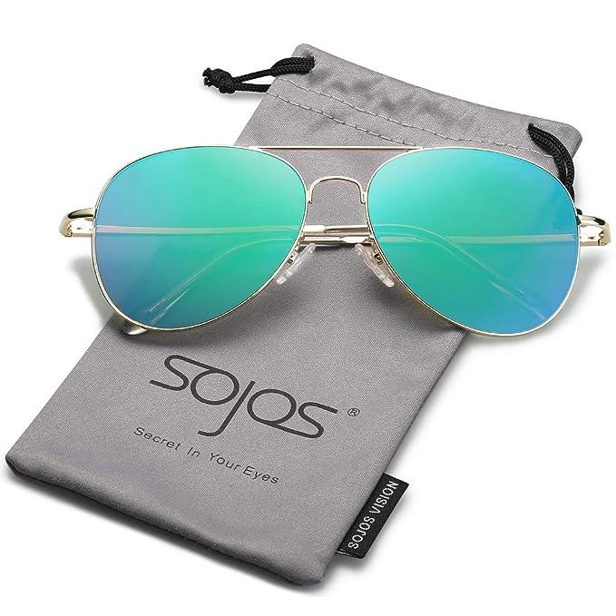 65c46059b8 SOJOS Classic Aviator Sunglasses - Sunglassky Collection