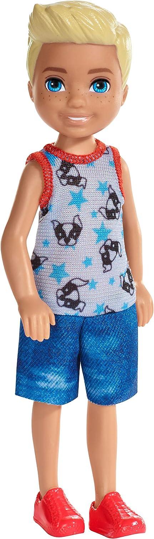 Barbie Club Chelsea Doll, 6-inch Blonde Boy Doll in Puppy-Themed Look