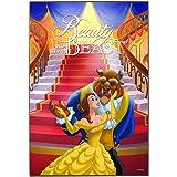 "Disney Silver Buffalo DP9236 Beauty and the Beast Ballroom Poster Wood Wall Art, 13"" by 19"""