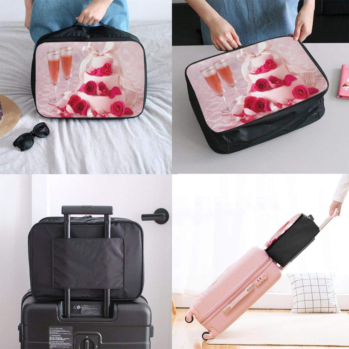 Travel Luggage Duffle Bag Lightweight Portable Handbag Cupcakes Large Capacity Waterproof Foldable Storage Tote
