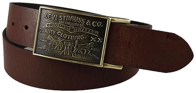 Levi  s Hombre 1 1 2 en.Placa cinturón con cierre  Amazon.com.mx ... ae6e332e37cf