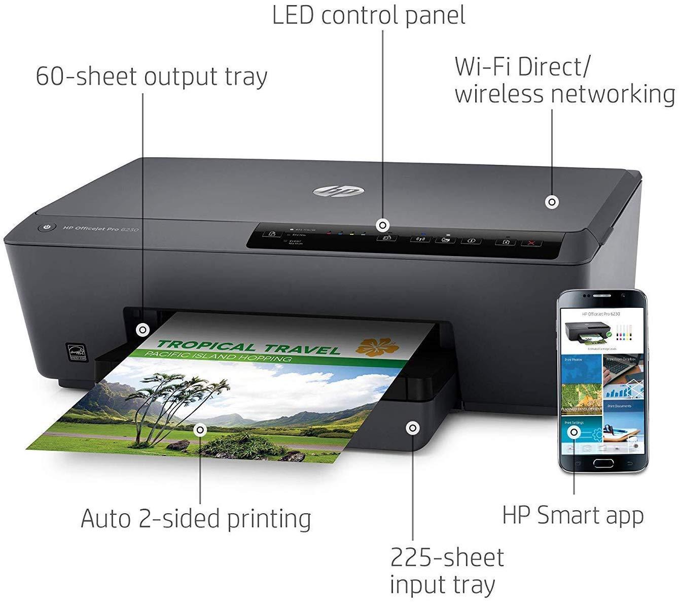 HP Officejet 6230 - Impresora de tinta (15000 páginas por ...