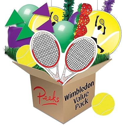 Peeks Wimbledon Tennis Value Pub Party Room Decoration Bundle Theme Pack   Amazon.co.uk  Kitchen   Home 16b8a91228492