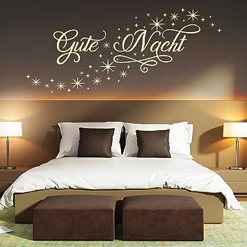Wandtattoo Gute Nacht Sternen Himmel   Schlafzimmer Deko schlafen ...