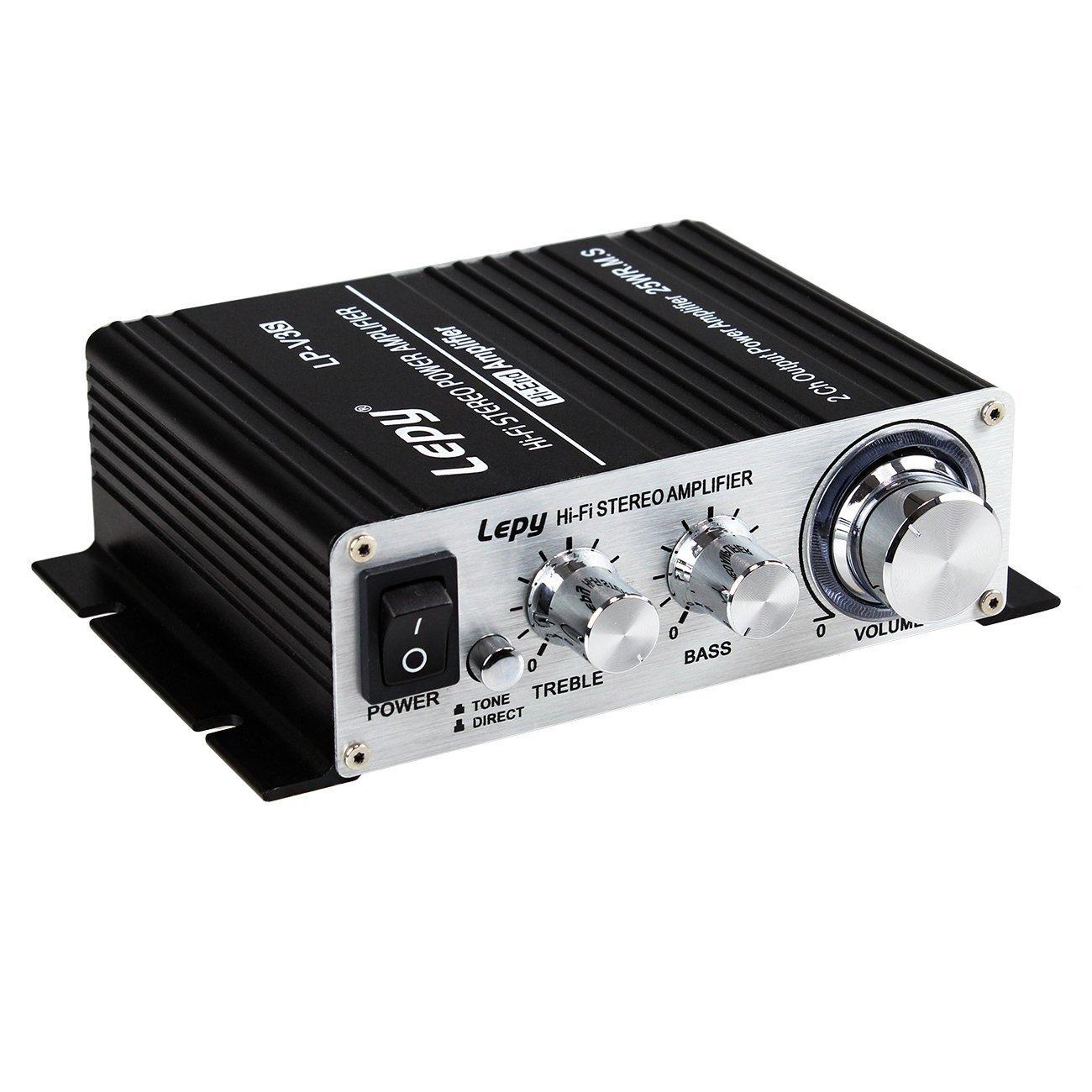 LEPY LP-V3S 25Wx2 RMS Ampli/Amplificateur audio Hifi sté ré o digital + Adaptateur EU 5A pour iPhone, PC, MP3 etc. OS04263-1+OS03963