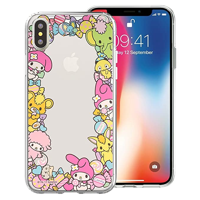cheap for discount ad3b7 26b04 iPhone Xs/iPhone X Case My Melody Cute Border Clear Jelly Cover for Apple  iPhone Xs/iPhone X (5.8inch) - Border My Melody