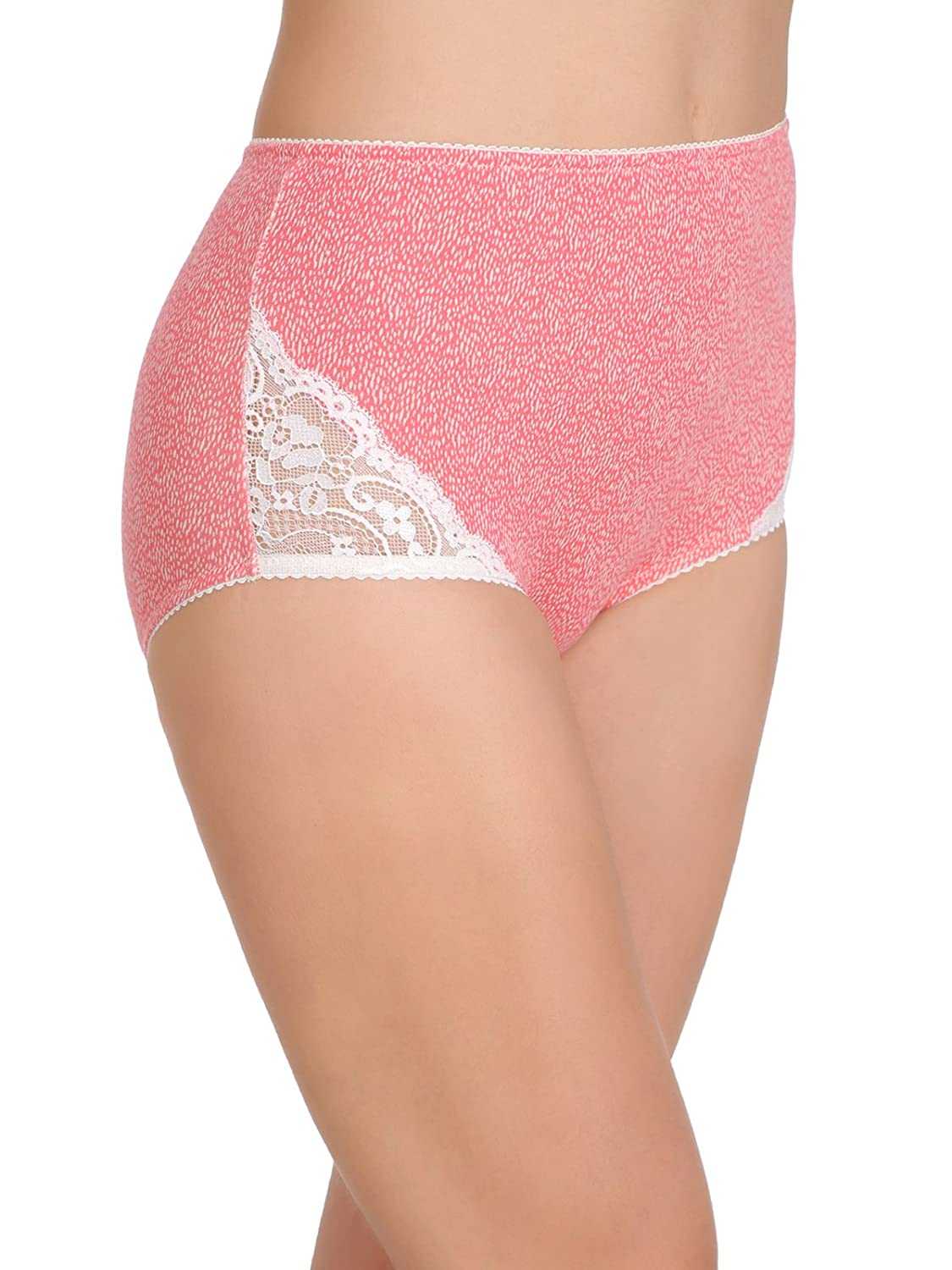 989139f623a Clovia Women s Cotton High Waist Printed Hipster Panty with Lace Sides   Amazon.in  Clothing   Accessories