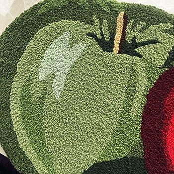 "Abreeze Fruit Rug Apple Orchard Bath Rug/Kitchen Area Rug 17.7""x 31.49"""