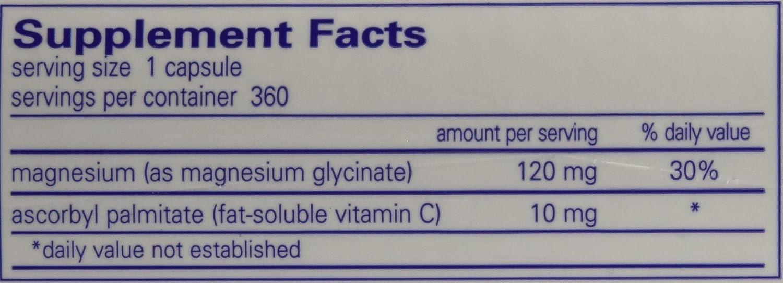 Amazon.com: Encapsulaciones puras - Magnesio (glicinado), 1 ...