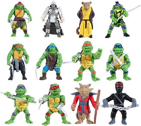 12 pcs Ninja Turtles Toys - Teenage Mutant Action Figure, TMNT Action Figures 2 inch-Tall, Carry Bag