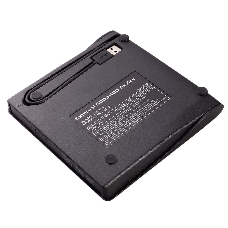 External DVD Drive LEADSTAR USB 3.0 CD DVD RW/DVD CD ROM Drive Writer Rewriter Burner for Mac OS Windows Linux System Laptop PC Desktop Notebook, Black by LEADSTAR (Image #6)
