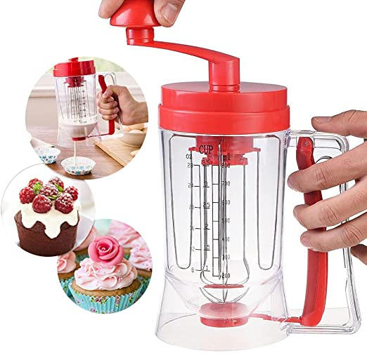 Manual Máquina de dispensador de masa para tortitas para desayuno ...