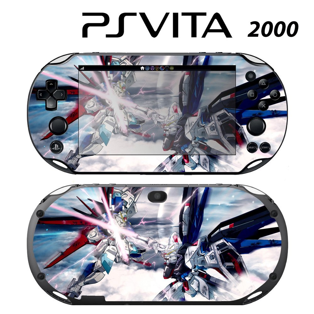 Decorative Video Game Skin Decal Cover Sticker for Sony PlayStation PS Vita Slim (PCH-2000) - Gundam