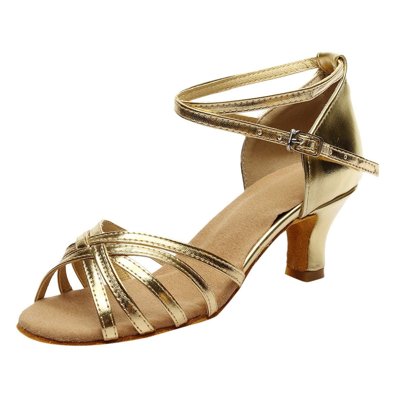 Collocation-Online Womens Sandals Latin Dance Shoes Female Solid Shoe Women Ballroom Tango Salsa Dance Shoes 2019 hot #30,Gold,36,China
