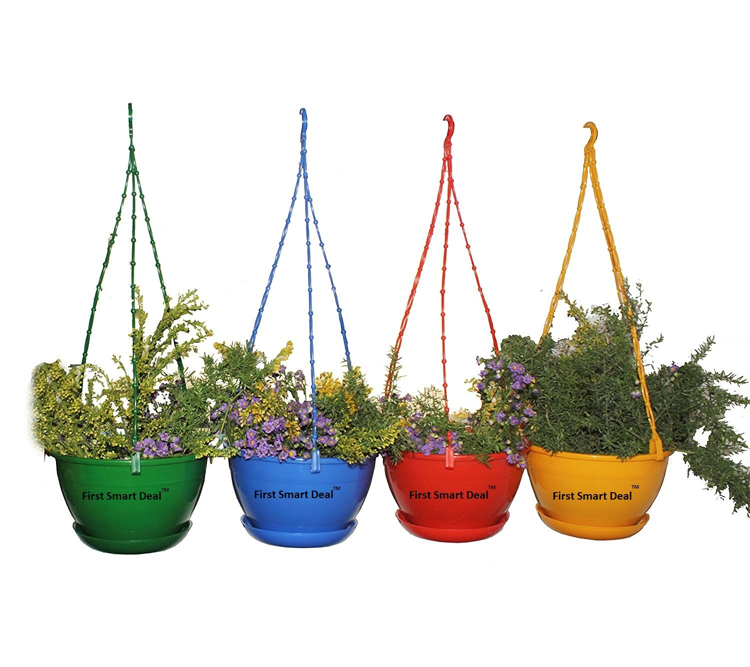 First Smart Plastic Hanging Pot (Multicolour, Pack of 4) product image