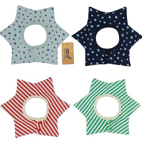 iZiv(TM) Baberos del Bebé - Paquete de 4 Diseños con 4 Capas ...