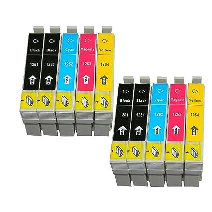 colour-store 2 juegos + 2 BK compatible Cartuchos de tinta para ...