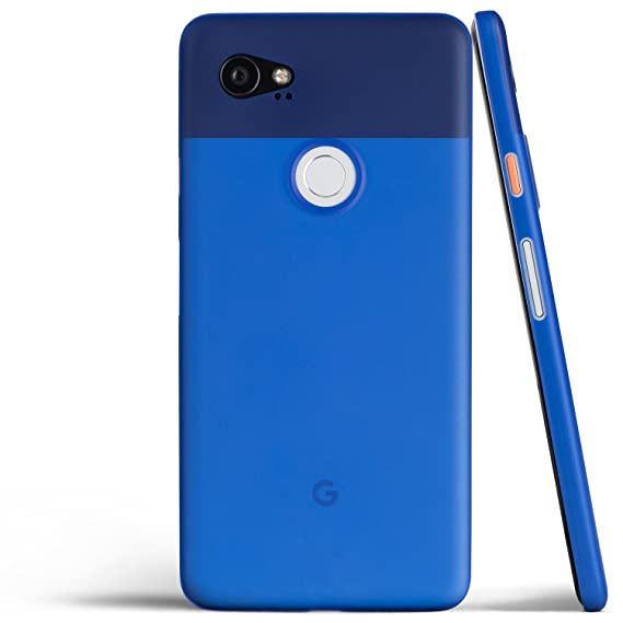 best service f21bf 5ae43 totallee Pixel 2 XL Case, Thinnest Cover Premium Ultra Thin Light Slim  Minimal Anti-Scratch Protective - for Google Pixel 2XL (Really Blue)