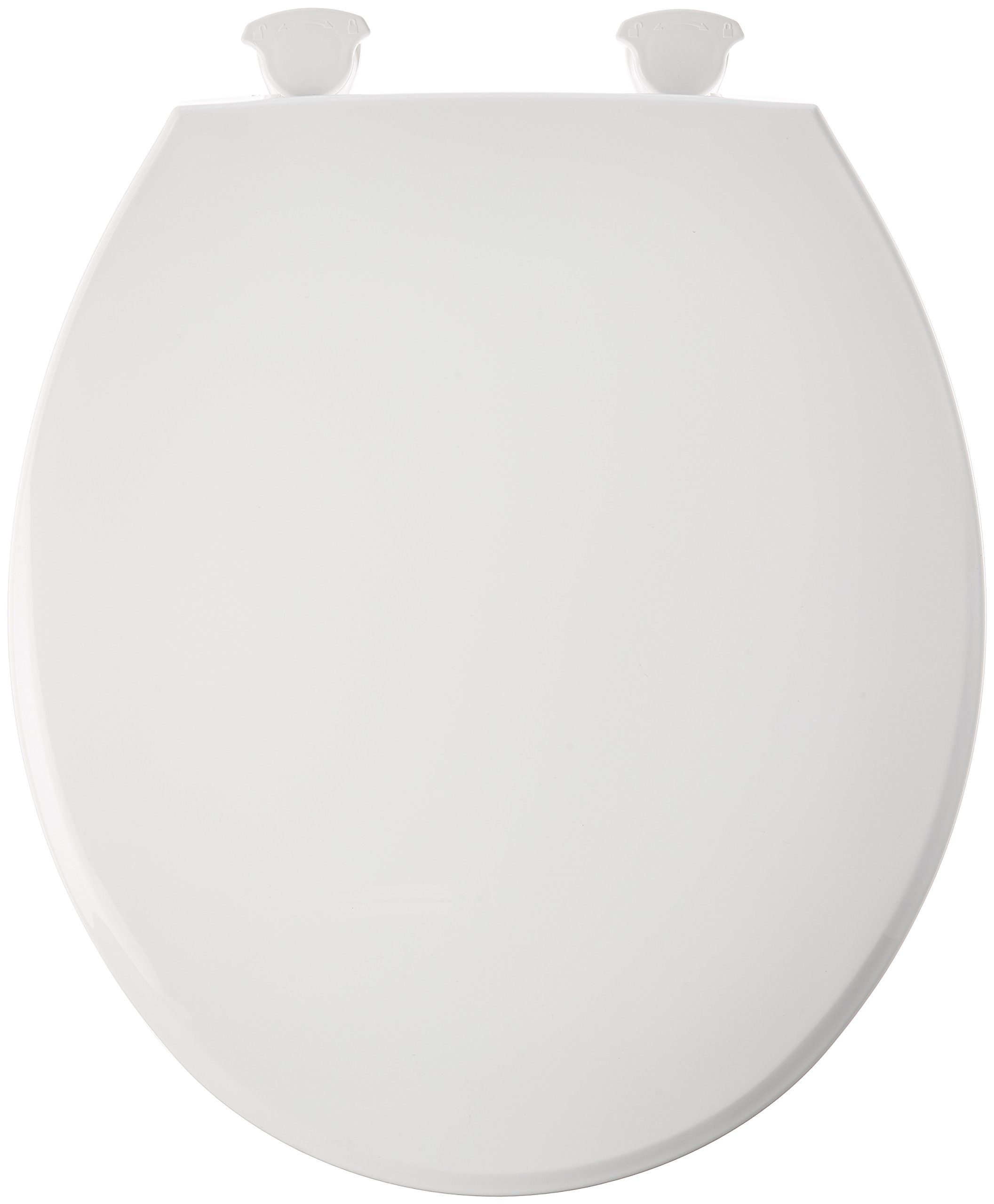 Bemis 800ec000 Plastic Round Toilet Seat With Easy Clean