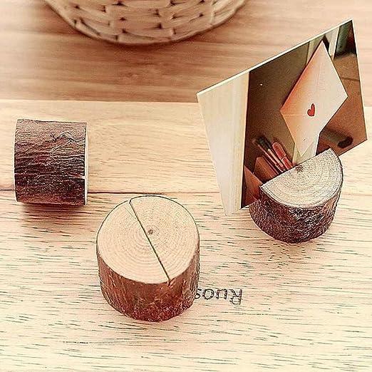 12 soportes de madera para tarjetas de ubicación, tarjetas de mesa ...
