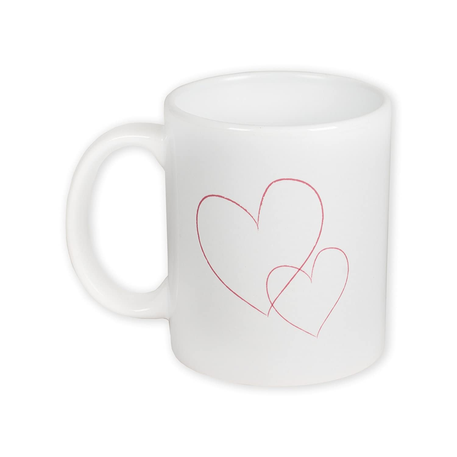 Daughter You Are a Treasure in My Life Pink Hearts 11 Ounce White Ceramic Coffee Mug