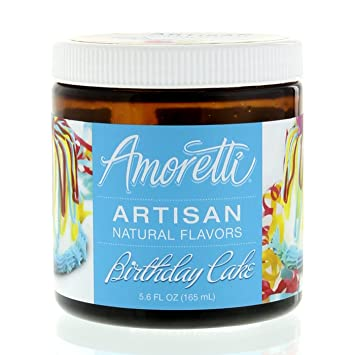 Amoretti Natural Artisan Flavor Birthday Cake Flavoring 56 Fluid Ounce