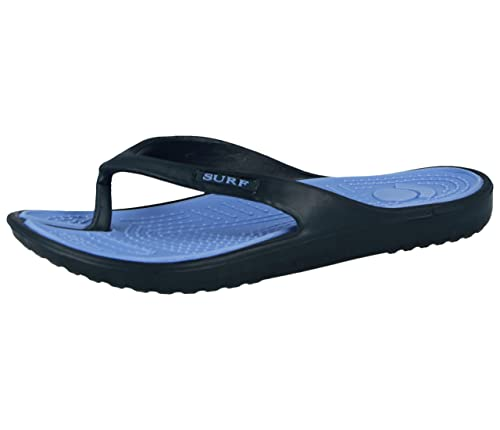 0cb884cb9d87 Ladies Navy Blue Eva Toe Post Flip Flop Surf Sandals New Summer Flat Beach  Shoe