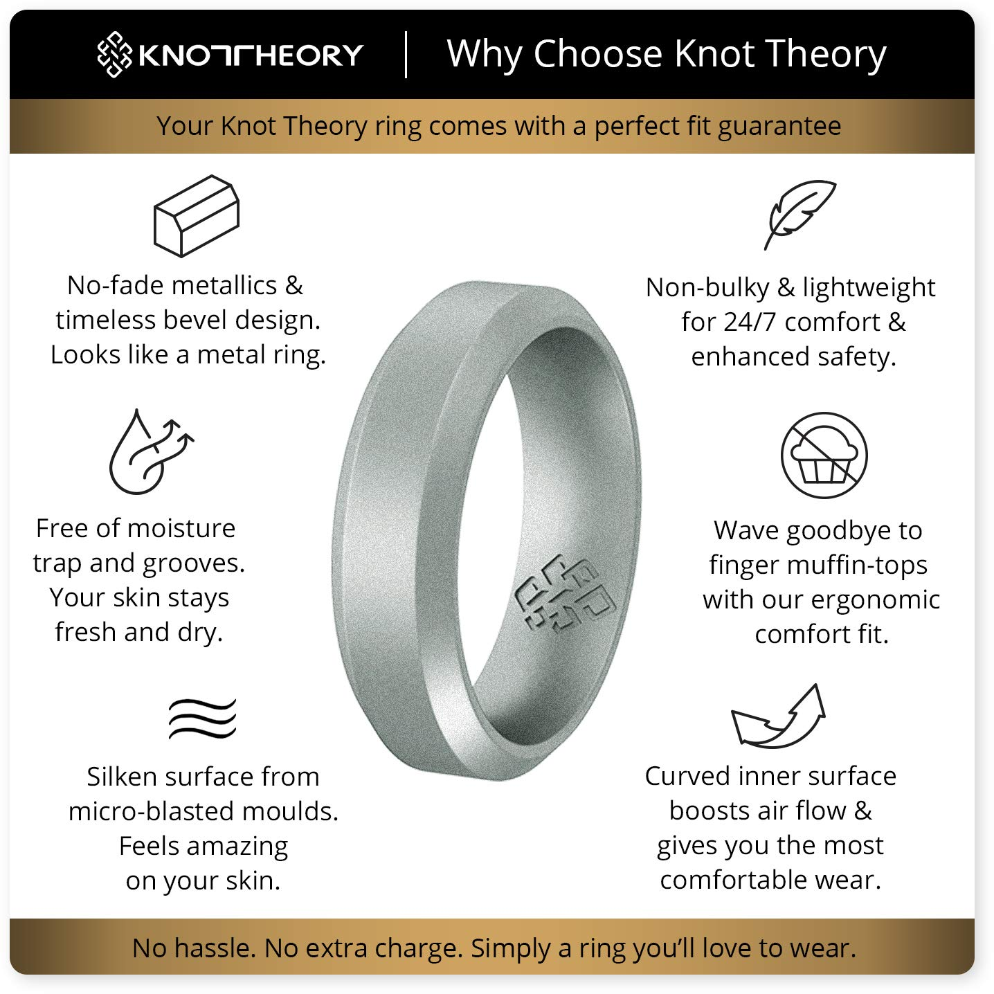 Silicone Wedding Rings by Knot Theory ★Canadian, Award-Winning Designer  ★6mm Band for Superior Comfort, Style, Safety (Black, Gray, Blue, Red,  Silver,