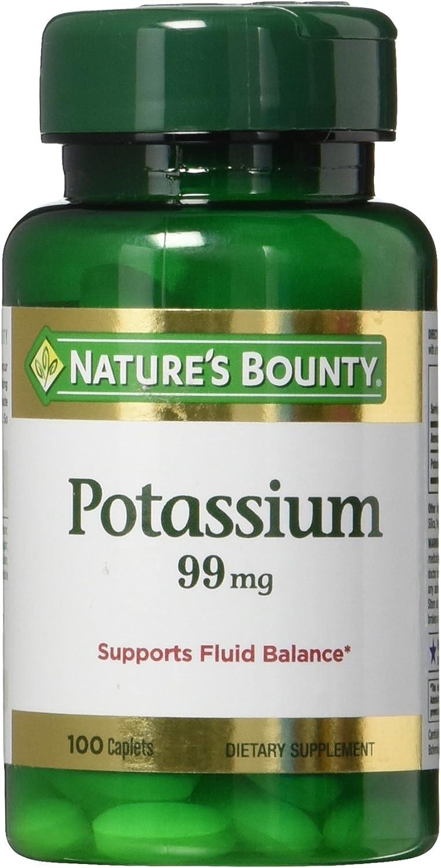 Nature's Bounty Potassium Gluconate 99mg, 100 Caplets: Health & Personal Care