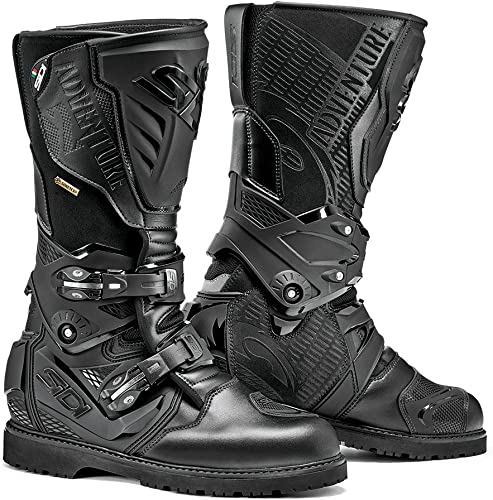 Sidi Adventure 2 Gore-tex Waterproof Leather ADV Motorcycle Touring Boots 49 Black
