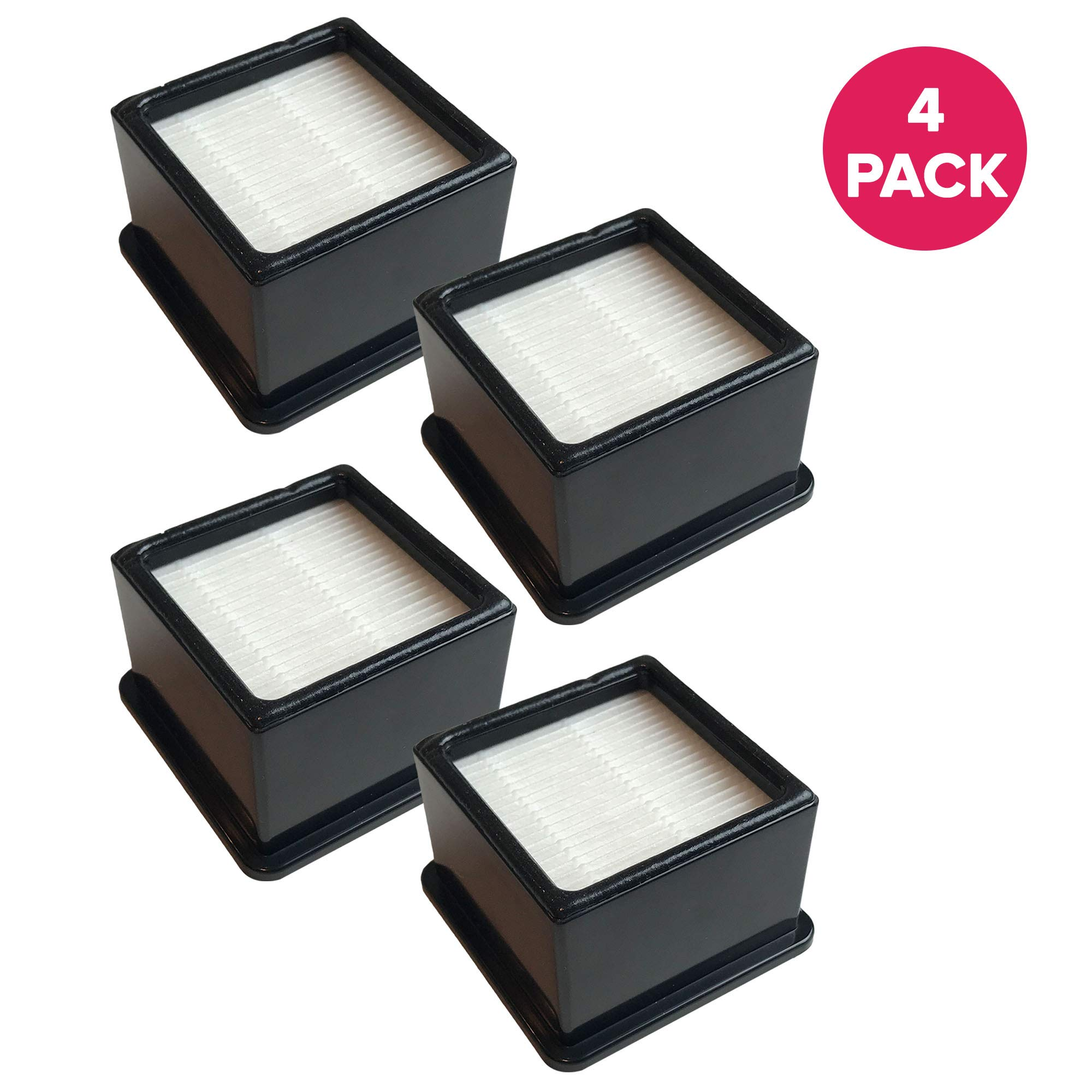 Crucial Vacuum Replacement Air Filters - Compatible with Dirt Devil F-43 Easy Lite Cyclonic Bagless Foam Vacuum Cleaner Filter - HEPA Style - Replace Parts #F43 2PY1105000 1PY1106000 (4 Pack)