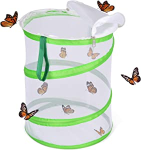 FUN LITTLE TOYS Butterfly Cage Set Butterfly Habitat Butterfly Garden Kit Butterfly Garden Butterfly Farm Without Butterfly