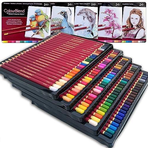 Ensemble de Art de qualité–Premier Crayons de couleur souple Core Lot de 120nouveaux et améliorés Premium Artist Soft Série Laisse avec des couleurs éclatantes Crayon
