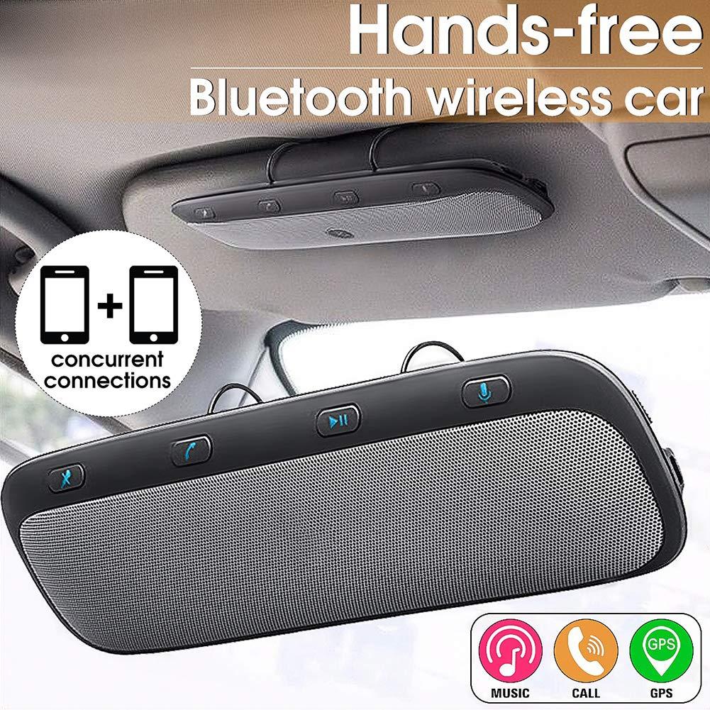 Dandeliondeme Kit Mains-Libres Bluetooth pour Voiture sans Fil avec Haut-Parleur Multipoint Speakerphone Auto Answering Haut-Parleur avec Affichage LED