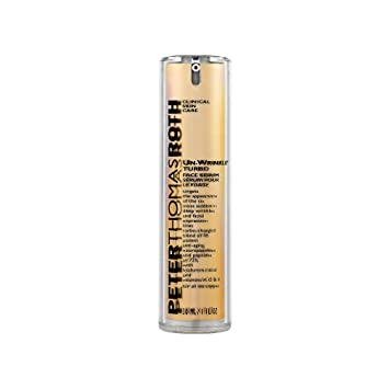 Amazon.com : Peter Thomas Roth Un-Wrinkle Turbo Face Serum Serum For Unisex 1 oz : Beauty