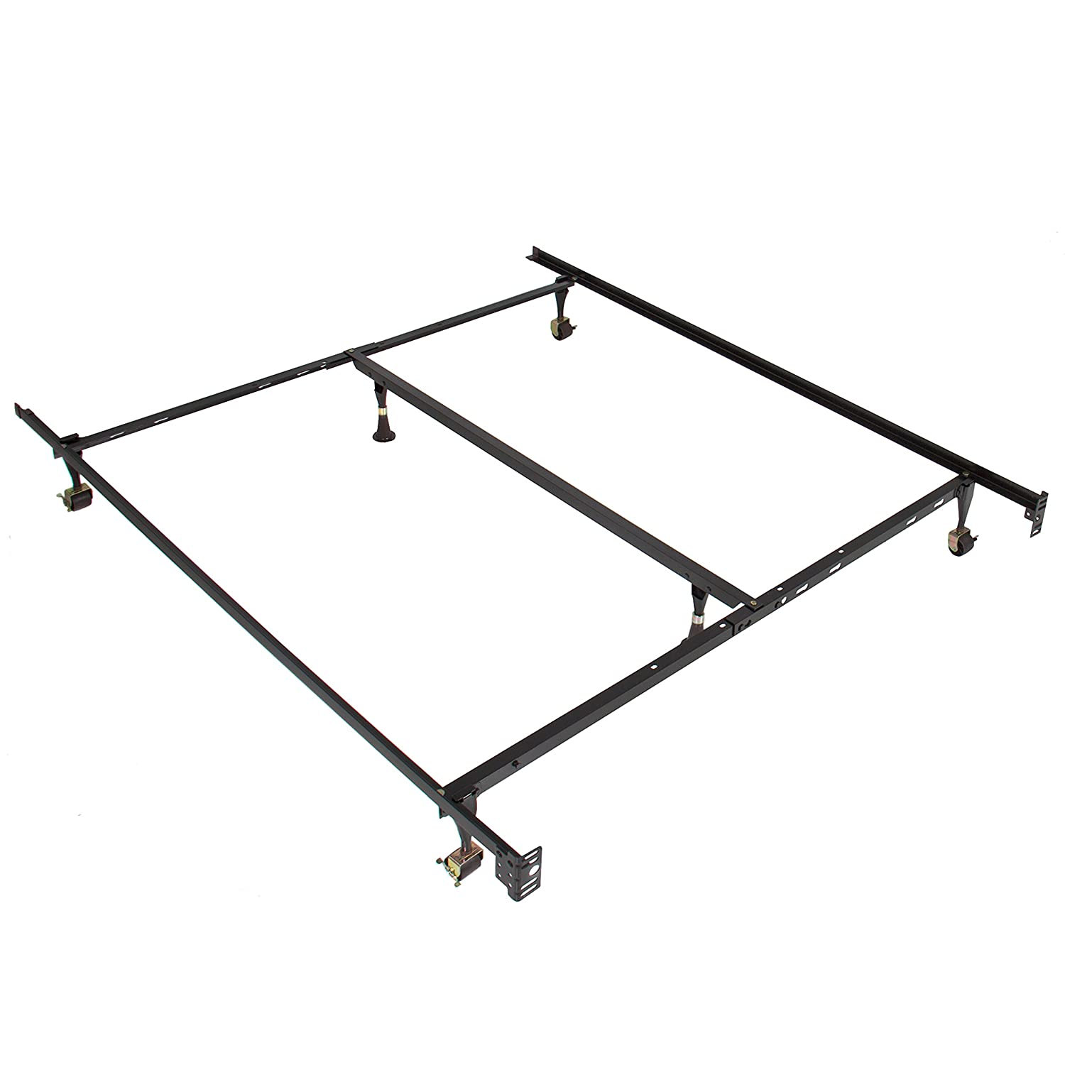 amazoncom best choice products metal bed frame adjustable queen full twin size w center support platform home u0026 kitchen - Mattress Frame